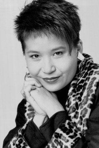 Annette Shun Wah as a TV presenter in 1990.