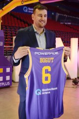 Six shooter: Andrew Bogut brings a breath of fresh air to the Australian game.