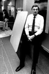 ACT City Manager John Turner in 1988 in his then new digs in the North Building on London Circuit