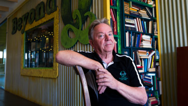 Beyond Q owner Simon Maddox ran his bookshop business in Curtin for 17 years. About 15 of those were spent in the controversial Curtin shops, while two were spent in an adjoining building.