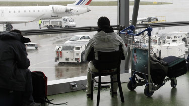 Flights were quickly suspended at Lyon's Saint-Exupery airport.
