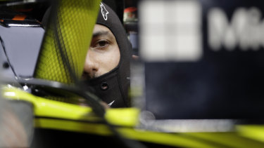 Frustrating: Renault driver Daniel Ricciardo was forced to retire from the Bahrain grand prix a few laps short of the finish.