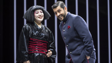 Karah Son as Butterfly and Andeka Gorrotxategi as Pinkerton in the new production of Madama Butterfly.