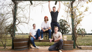 The Barbell Biltong team, from left, Matt Laing, Rory Rathbone, Luke Rathbone and Tom Hutchison.