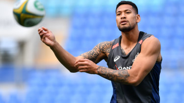 Dropped: Israel Folau's 2018 social media comments  cost him the financial support of the Salteri family.