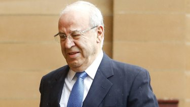 Eddie Obeid outside the Darlinghurst Supreme Court on December 15, 2016, shortly before he was sent to prison for a maximum of five years.