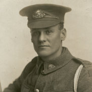 A photo of Private (Sapper) Philip Owen Ayton taken in London, December 14, 1915.