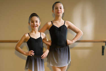Sisters Themelina and Theodora Rozakis, are two ballet students at a Melbourne Ballet School, who will be partaking in school holiday classes.