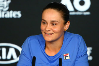 Head for heights: Australia's Ashleigh Barty says she's ready to deal with the pressure as she prepares for her opening match of the 2020 Australian Open at Melbourne Park on Monday night.