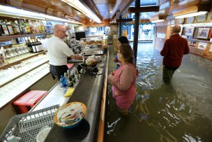 Venice under water again as third record tide floods the city