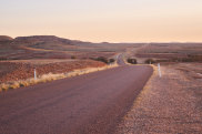 'Long, Lonely Road' shot taken near Betoota looking west. From Bush, a book about outback Queensland.