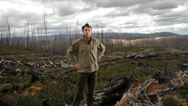 David Blair pictured in The Marysville State Forest for a 2011 story with The Age and Sydney Morning Herald