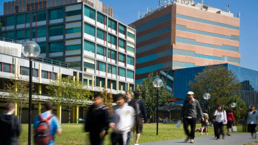 Caulfield Campus, Monash University. One of six campuses where exams have been postponed.