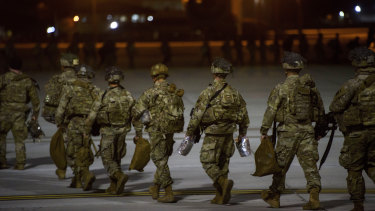 The US dispatched more troops to the Middle East this week.