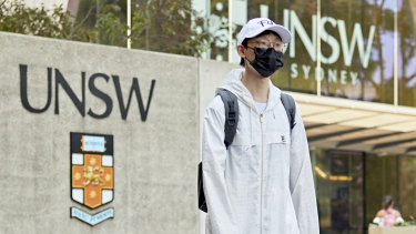 A student at the University of NSW.