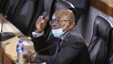Former South African president Jacob Zuma in court in Johannesburg, South Africa, last year.