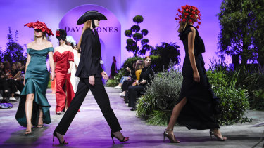 Walk on, buy: David Jones' spring-summer launch at Sydney's Fox Studios included items usually associated with other seasons.