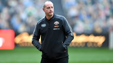 Wests Tigers coach Michael Maguire is under pressure.