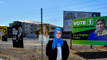 Hazara Australian woman Zahra Haydar Big is standing for Greater Shepparton City Council as an independent.