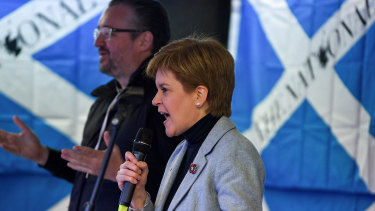 "Scotland's First Minister Nicola Sturgeon claims independence is ""within touching distance"" at a major rally in Glasgow."
