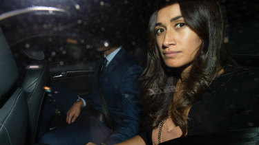 Waiting game: Maria Folau's was by her husband's side during his code of conduct hearing last month in Sydney.
