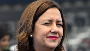 """Annastacia Palaszczuk says she will """"wait and see where it's at"""" before deciding on what steps to take over her deputy's future."""