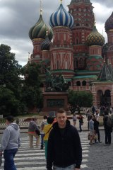 Jack O'Brien in Red Square, Moscow.