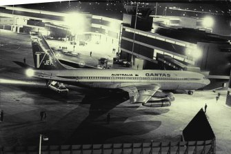 """ Qantas paid a $500,000 ransom yesterday when threatened that a bomb would destroy a Boeing 707 jet carrying 128 people from Sydney to Hong Kong. March 27, 1971. """