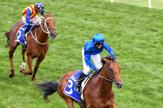 Bivouac beats Nature Strip in last year's Darley Sprint Classic at Flemington
