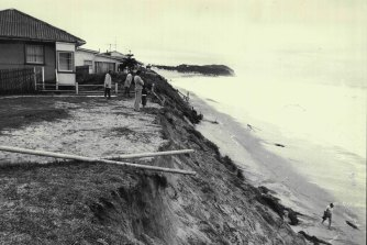 Wamberal Beach was hit by a big erosion event in 1974.