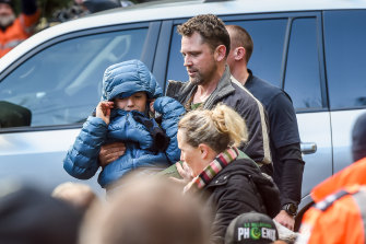 William Callaghan after he was reunited with his mother and stepfather this week.