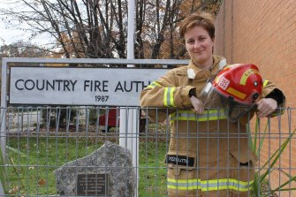 Gloria Pizzolitto is the captain of the Myrtleford CFA station.
