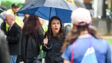 A woman verbally abused members of the LGBTI community during a city rally on Satuday.