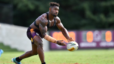 New arrival: James Segeyaro has only recently joined the Broncos.
