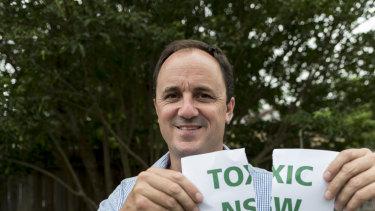 Fed up: Jeremy Buckingham quit the Greens last December.