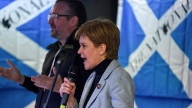 """Scotland's First Minister Nicola Sturgeon claims independence is """"within touching distance"""" at a major rally in Glasgow."""