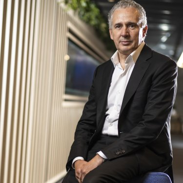"""""""There's always boisterous conversations with the board, but I wouldn't say they were adversarial,"""" says Telstra's chief executive Andy Penn."""