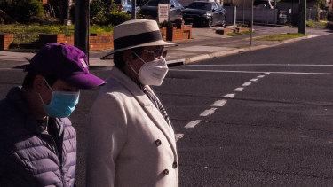 Mask wearing in Cabramatta.