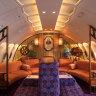 'It got a bit rowdy': Inside iconic '70s Qantas jumbo jet's lounge