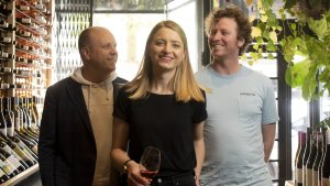 Jesse Gerner, Shane Barrett  and Sacha Imrie have launched an upmarket, carbon-conscious wine cask brand Hey Tomorrow.