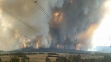 The fire in Bunyip.