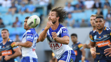 Orchestrator: Kieran Foran has been a shining light in a terrible start to the season for the Bulldogs.