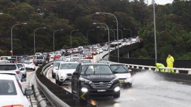 Flooded roads were one of the major problems across the city on Wednesday.