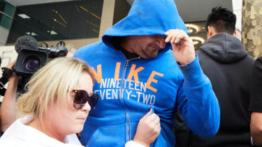 Phillip O'Donnell leaves the Melbourne Magistrate court on bail in February.
