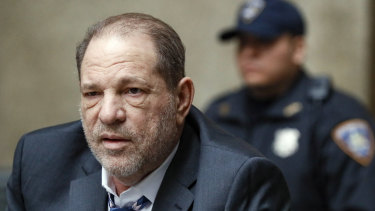 Harvey Weinstein departs a Manhattan courthouse during his rape trial in New York in February. He is serving a 23-year prison sentence.
