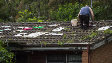 Many homes in Berowra Heights sustained damage when a hail storm hit the area on Thursday night.