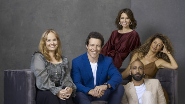 The cast of Five Bedrooms (left to right): Katie Robertson, Stephen Peacocke, Kat Stewart, Doris Younane and Roy Joseph.