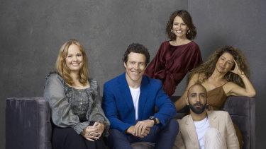 The cast of Five Bedrooms: Katie Robertson, Stephen Peacocke, Kat Stewart, Doris Younane and Roy Joseph.