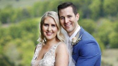 Matt and Lauren in happier times - on their wedding day.