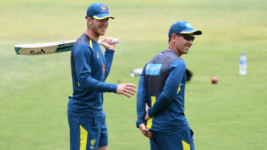 Lonely at the top: Tim Paine trains in Perth on Wednesday.